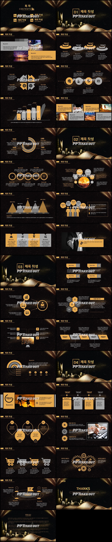 사업융자 노란색 짙은 고퀄리티 POWERPOINT서식 제작 상세보기