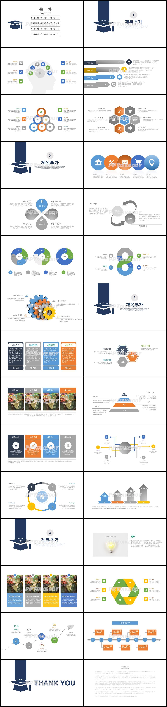 논문발표 하늘색 단조로운 다양한 주제에 어울리는 피피티템플릿 디자인 상세보기