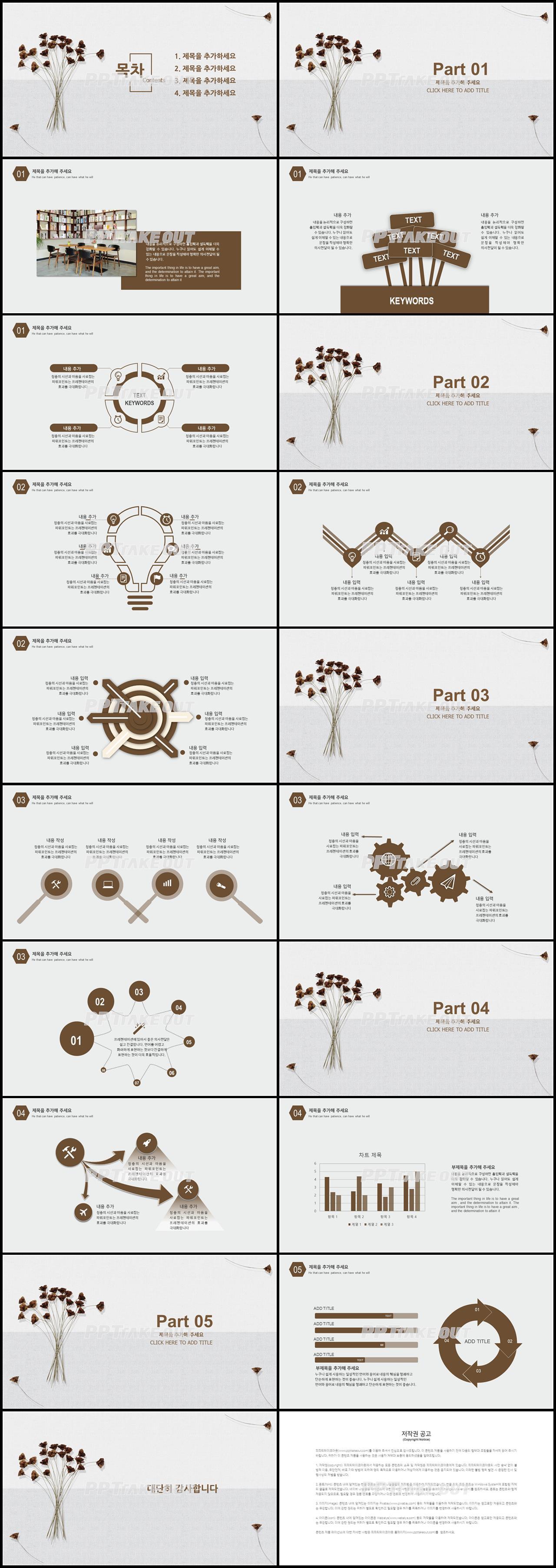 논문발표 갈색 산뜻한 매력적인 피피티템플릿 제작 상세보기