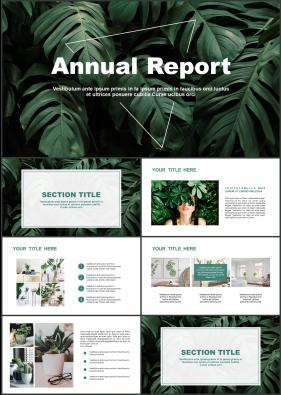 동식물, 애완동물 녹색 시크한 고급스럽운 POWERPOINT템플릿 사이트
