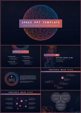 과학기술 보라색 짙은 다양한 주제에 어울리는 PPT탬플릿 디자인