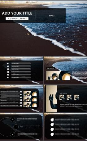 여행풍경 검은색 시크한 멋진 파워포인트샘플 다운로드