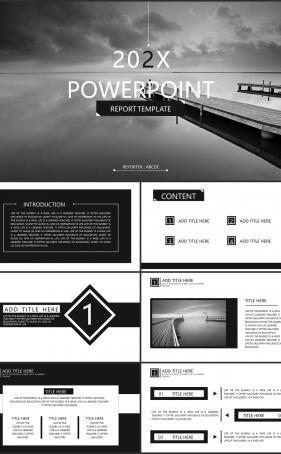 자연풍수 검은색 다크한 다양한 주제에 어울리는 POWERPOINT테마 디자인