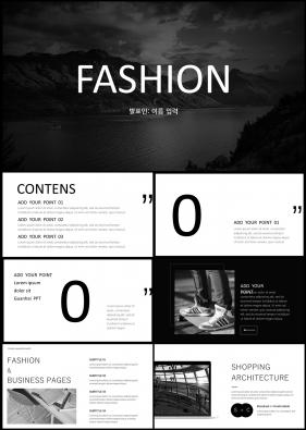 패션, 미용주제 검은색 짙은 고퀄리티 PPT템플릿 제작